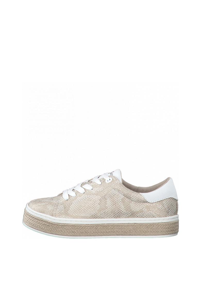Pantofi sport tip espadrile din piele ecologica cu model piele de sarpe