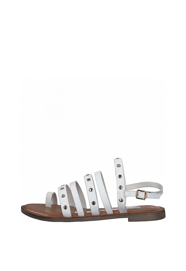Sandale de piele cu nituri poza fashiondays