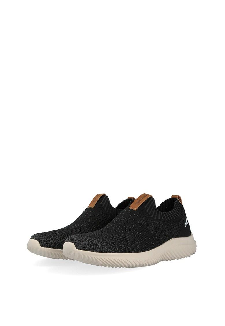 Pantofi sport slip-on din tricot fin Freesbee imagine fashiondays.ro 2021