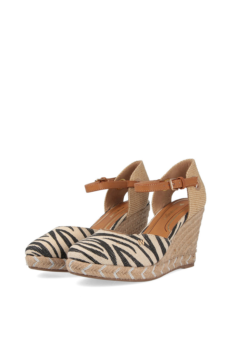 Sandale wedge tip espadrile Brava Safari imagine fashiondays.ro 2021