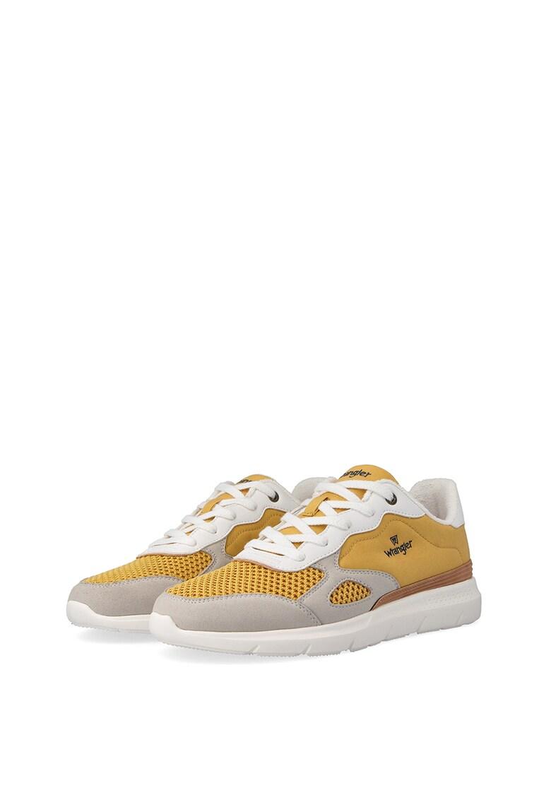 Pantofi sport colorblock cu garnituri de piele intoarsa si plasa Cruise imagine fashiondays.ro 2021