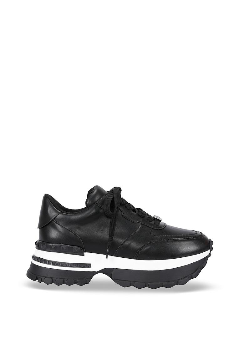 Pantofi sport cu talpa wedge si sireturi