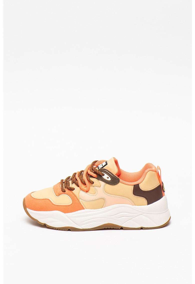 Pantofi sport cu insertii din piele intoarsa sintetica Celeste