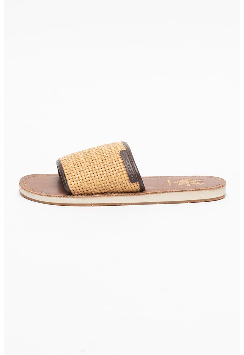 Papuci cu aspect tesut Frances imagine fashiondays.ro Scotch & Soda