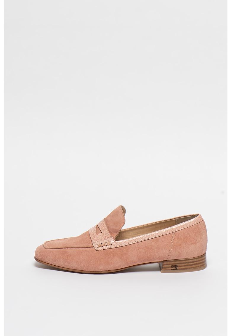 Pantofi loafer de piele intoarsa Blythe