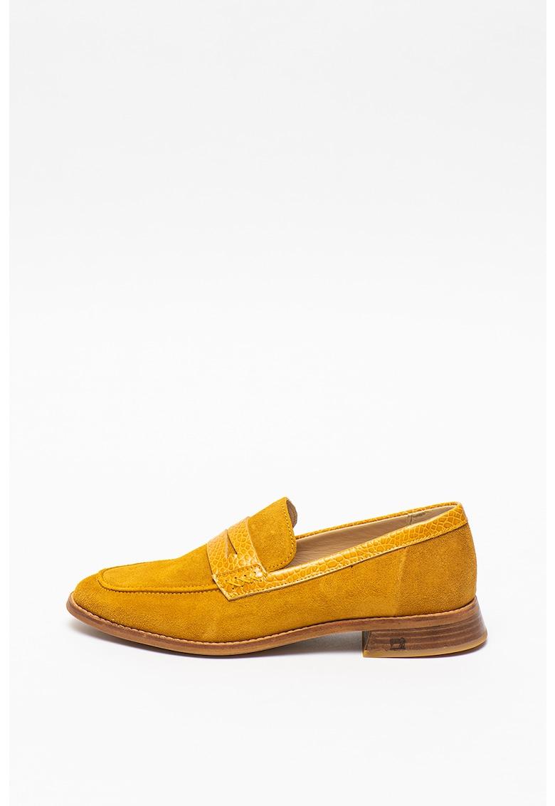Pantofi loafer din piele intoarsa Loel