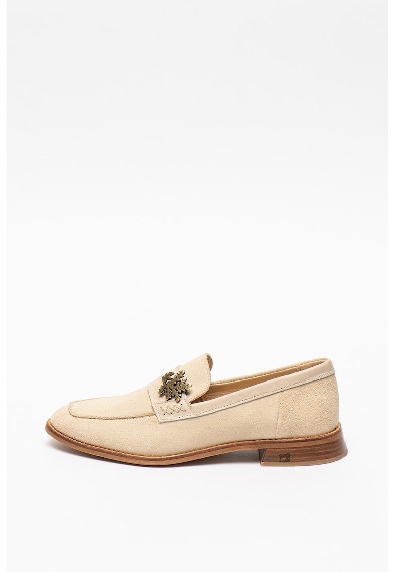 Pantofi loafer din piele intoarsa Loel fashiondays.ro