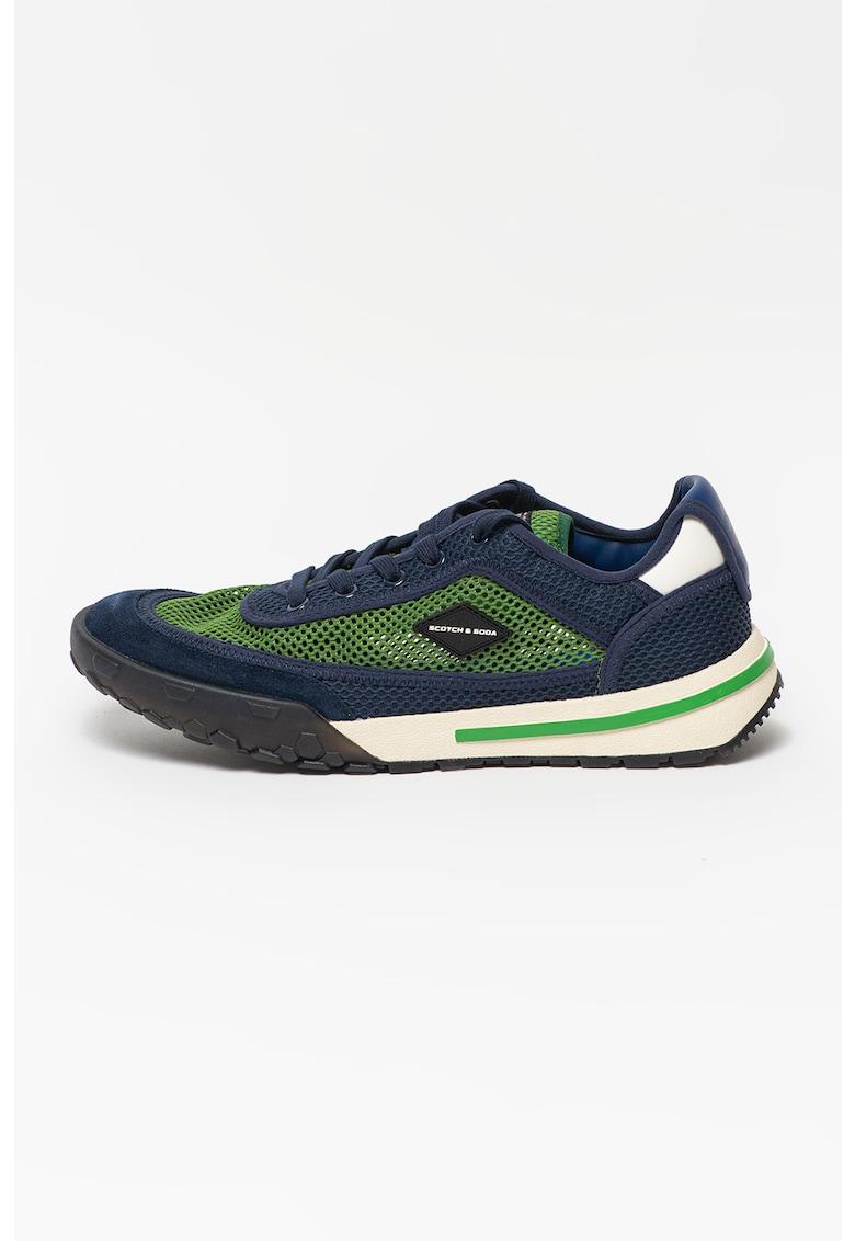 Pantofi sport low-top cu insertie de plasa Kagann