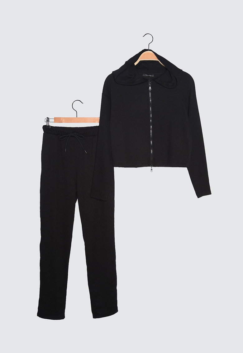 Set de hanorac cu fermoar si pantaloni - 2 piese Trendyol imagine 2021
