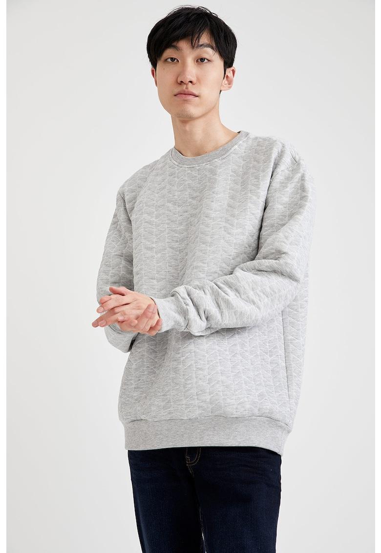 Bluza sport cu model chevron imagine