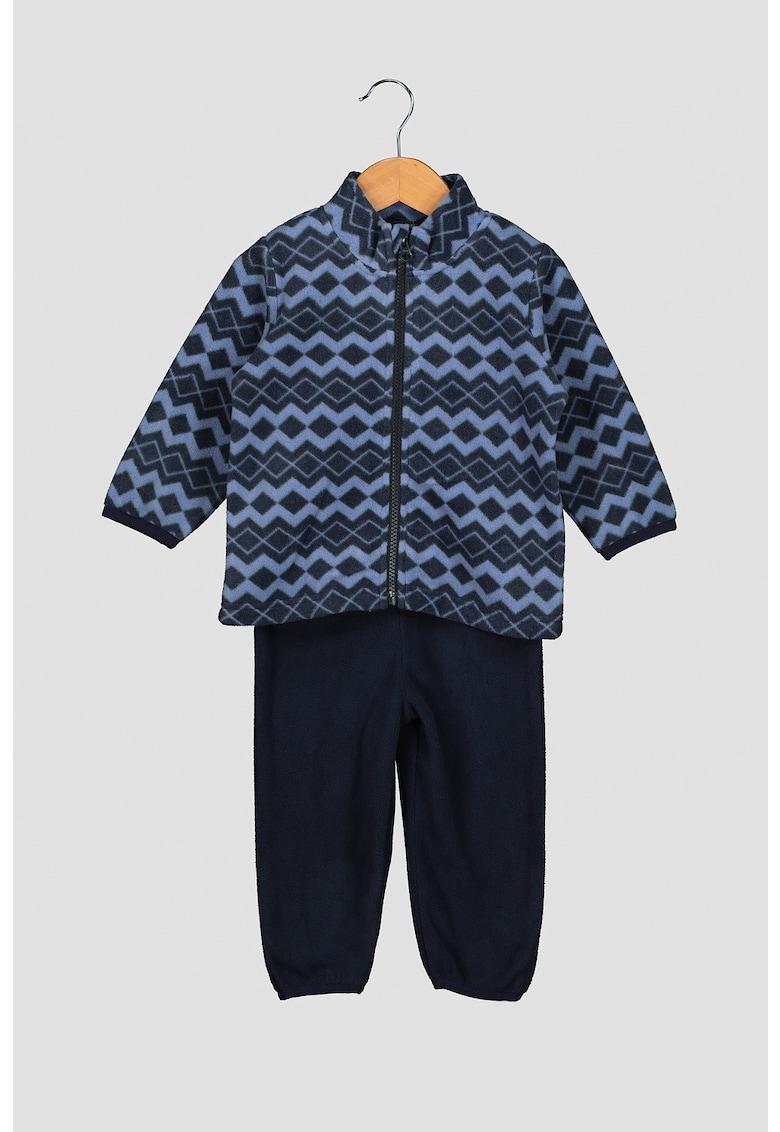 Set de jacheta cu fermoar si pantaloni cu talie inalta - cu bretele imagine fashiondays.ro