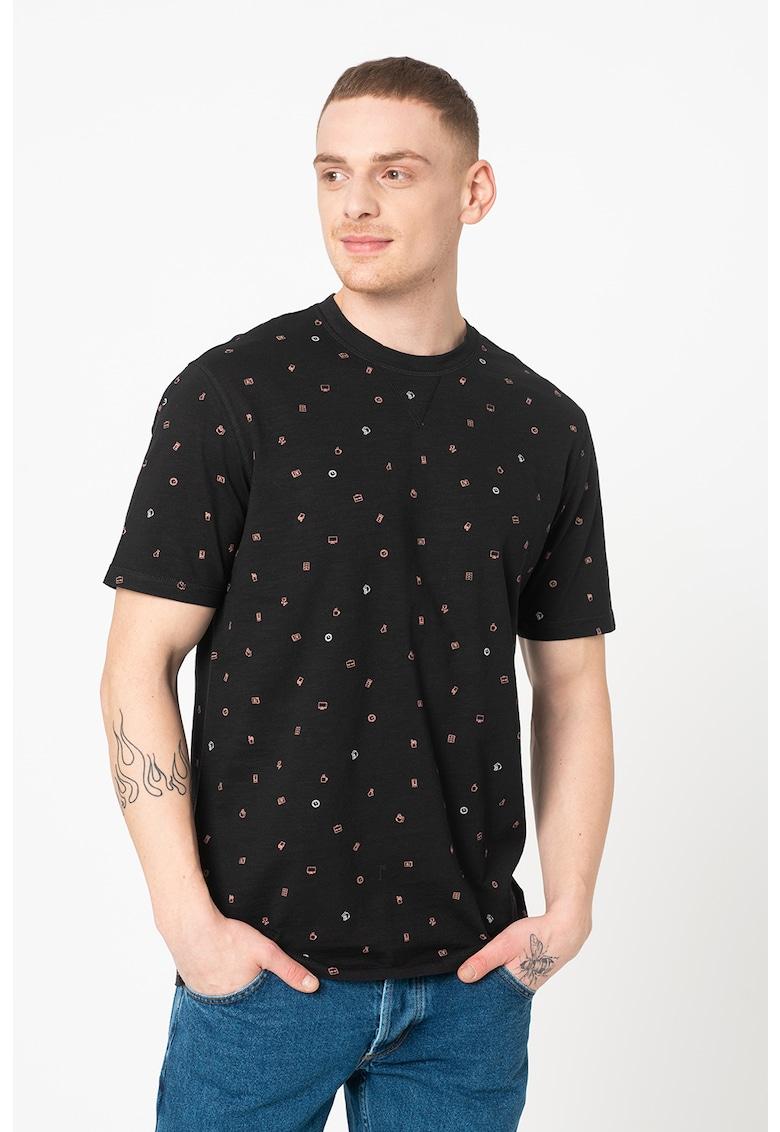 Tricou din bumbac organic cu imprimeu Malik Bărbați imagine