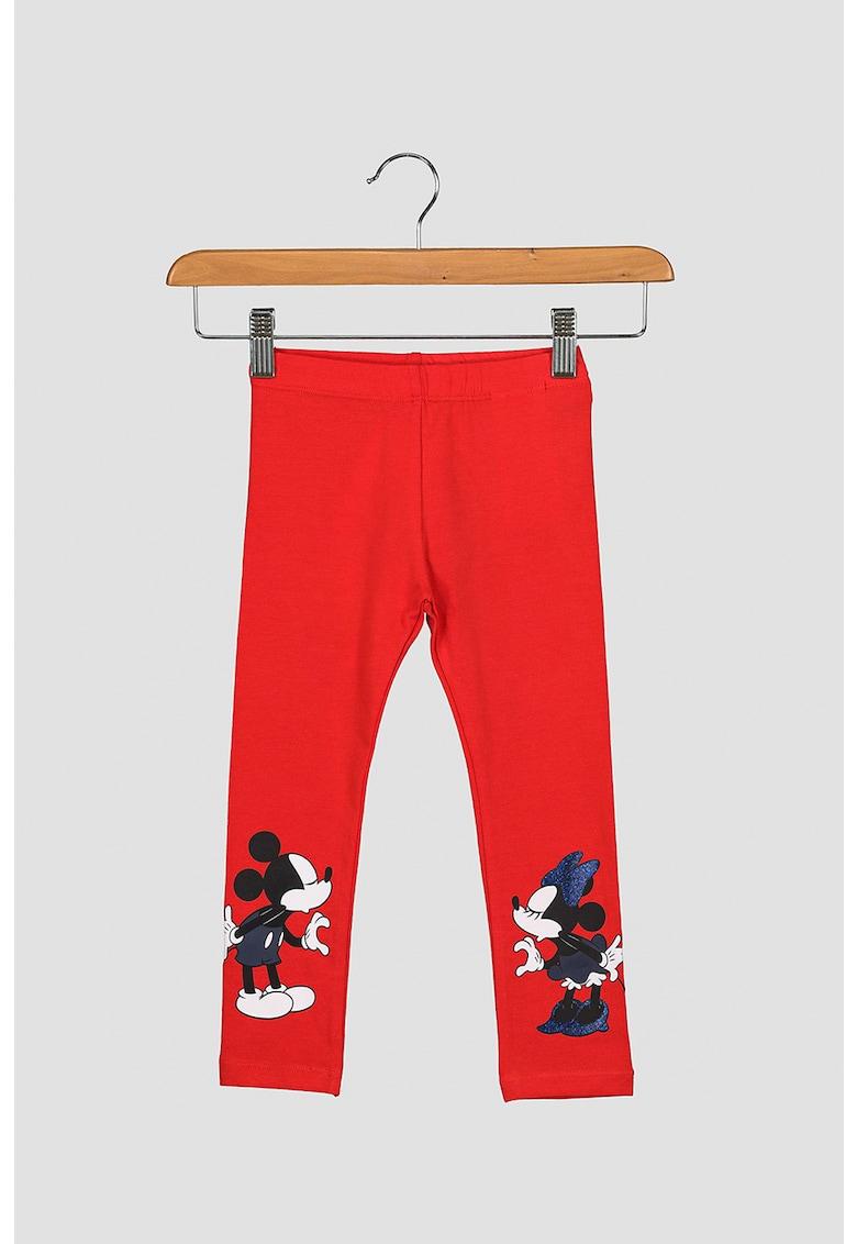 Colanti din amestec de bumbac organic - cu imprimeu Minnie&Mickey Mouse