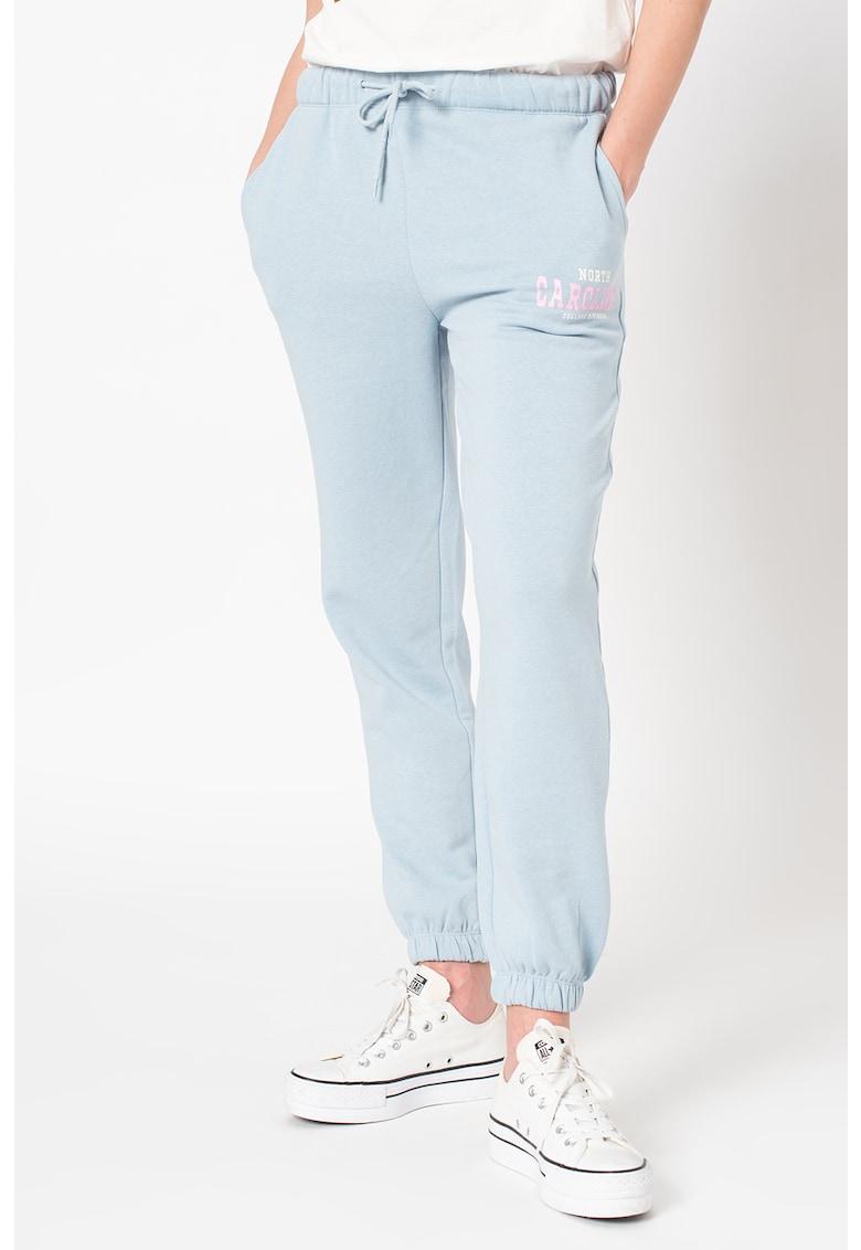 Pantaloni sport cu snur in talie College