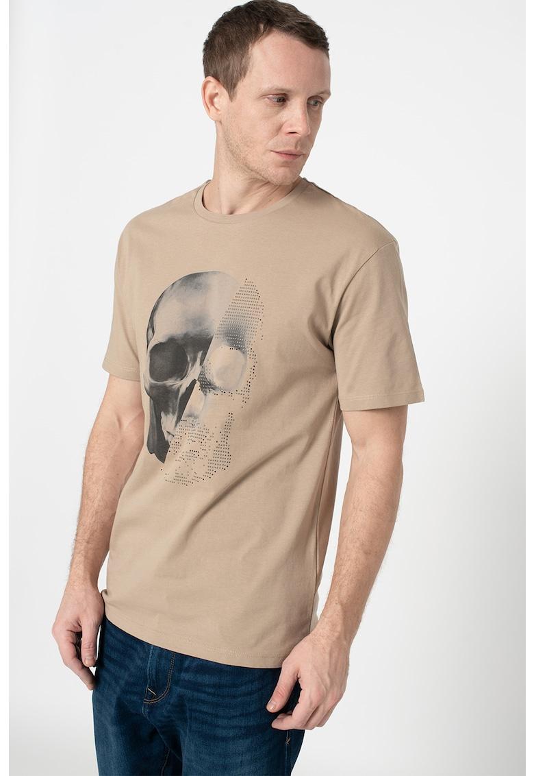 Tricou cu decolteu la baza gatului si strasuri Norm
