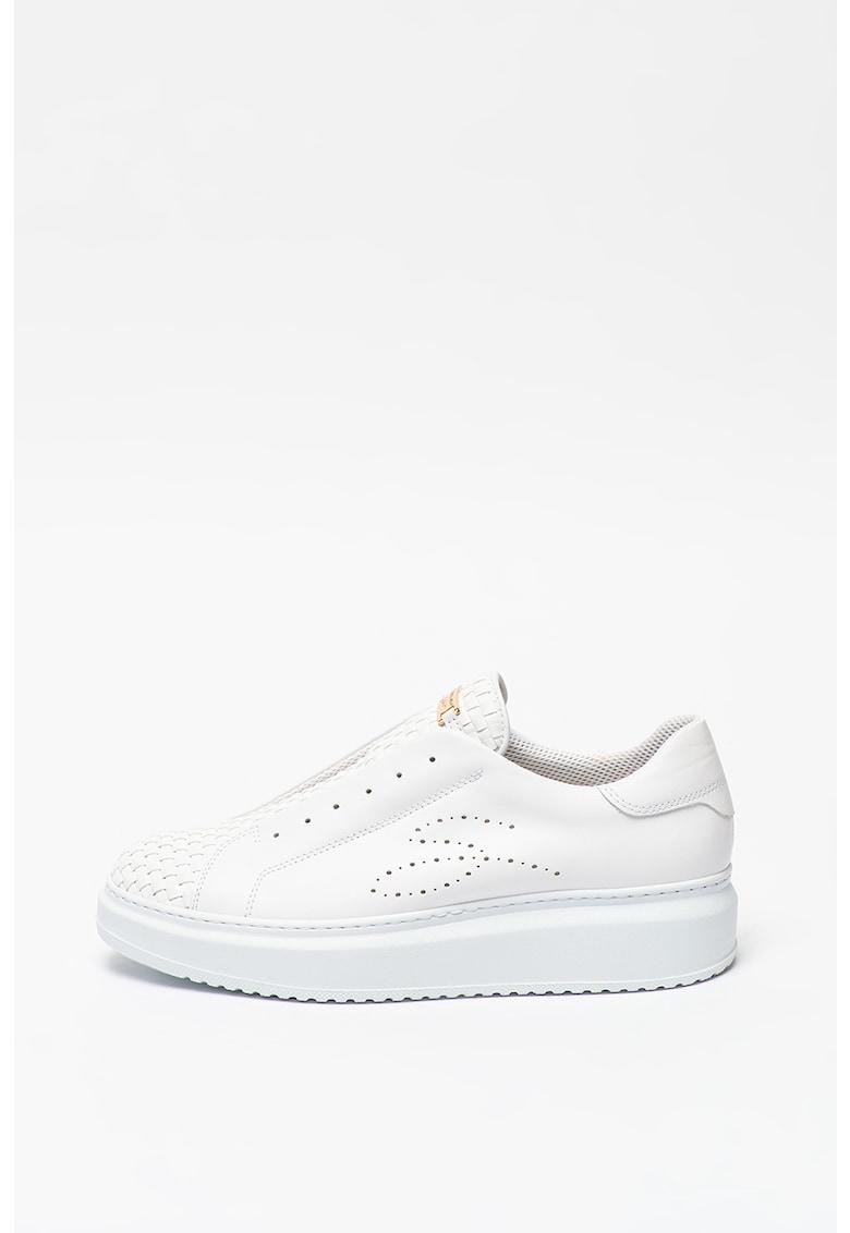 Pantofi sport slip-on cu detalii cu aspect impletit Agata imagine