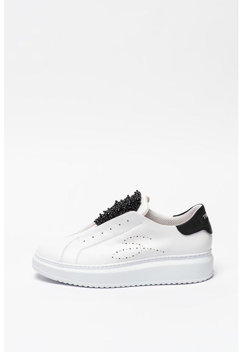 Pantofi sport slip-on cu aplicatii de margele Agata imagine