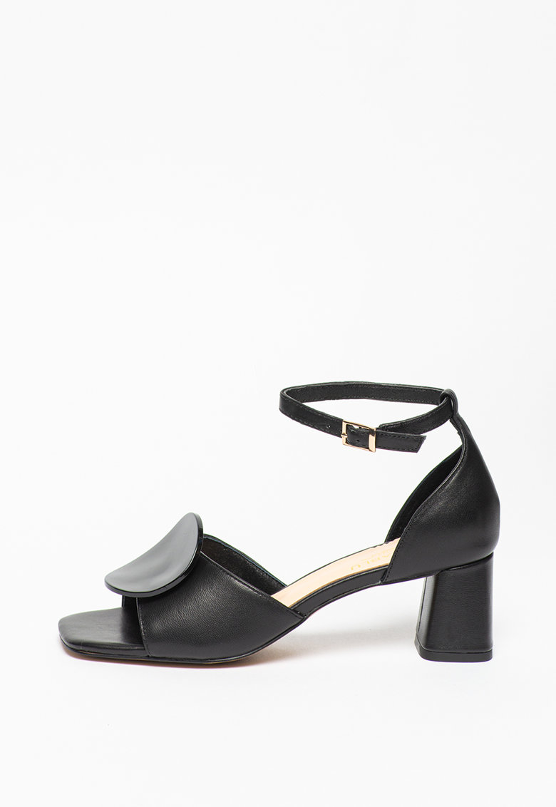 Sandale din piele cu toc masiv Larimar