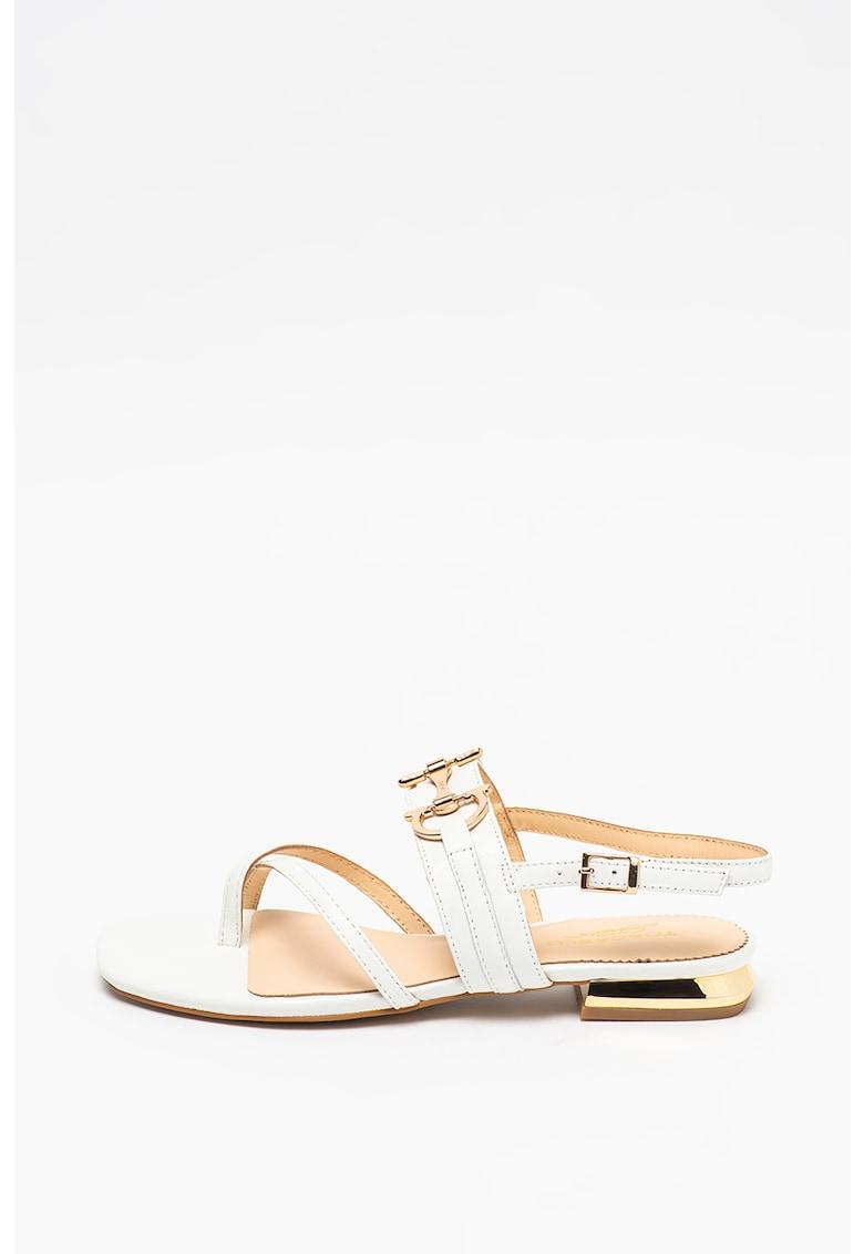 Sandale de piele cu detaliu metalic Onice poza fashiondays