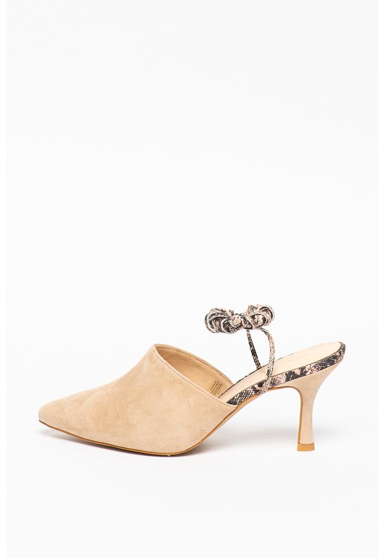 Pantofi din piele intoarsa cu snururi Giada
