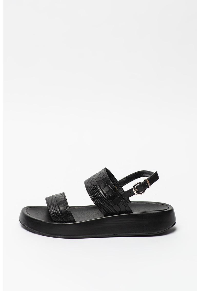 Sandale de piele cu detalii texturate Topaz poza fashiondays
