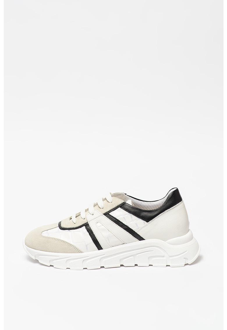 Pantofi sport cu garnituri de piele si piele intoarsa Ruby Tosca Blu fashiondays.ro