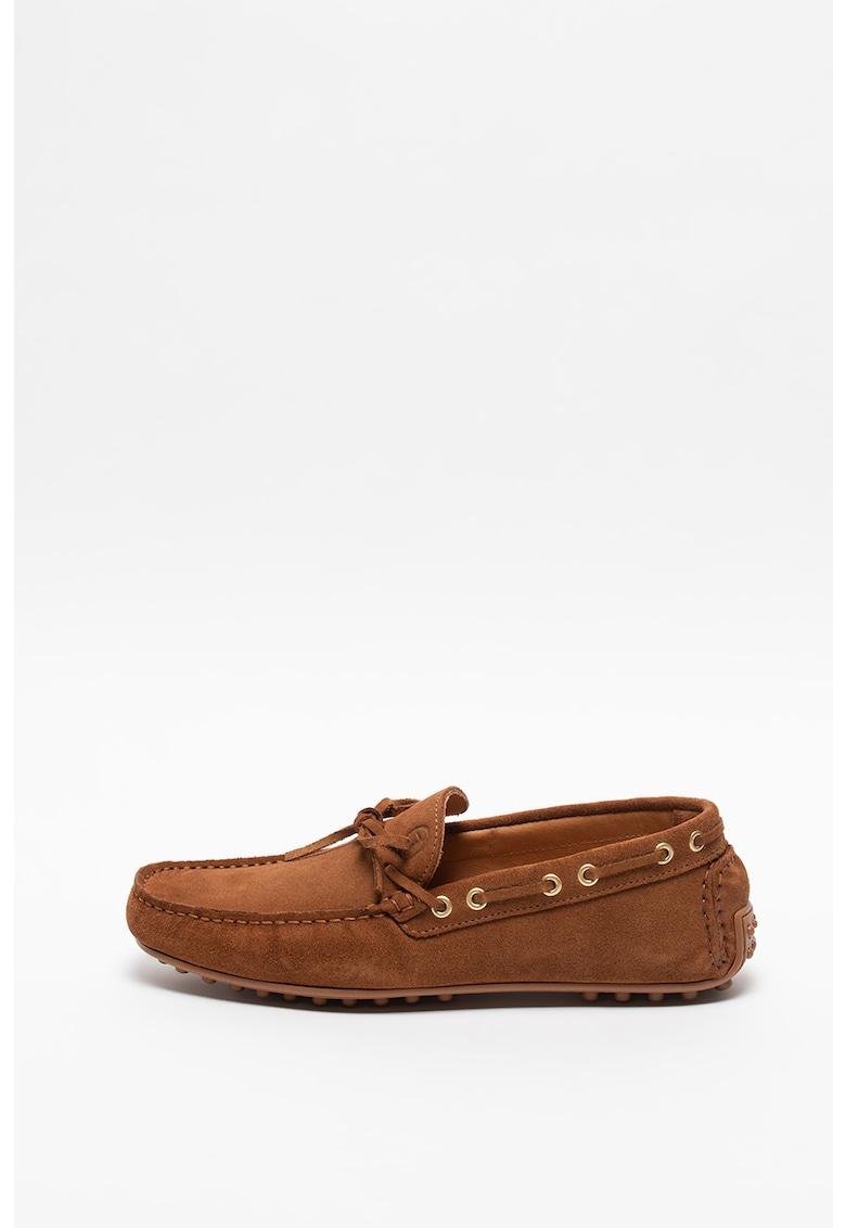 Pantofi boat de piele intoarsa Driver fashiondays.ro