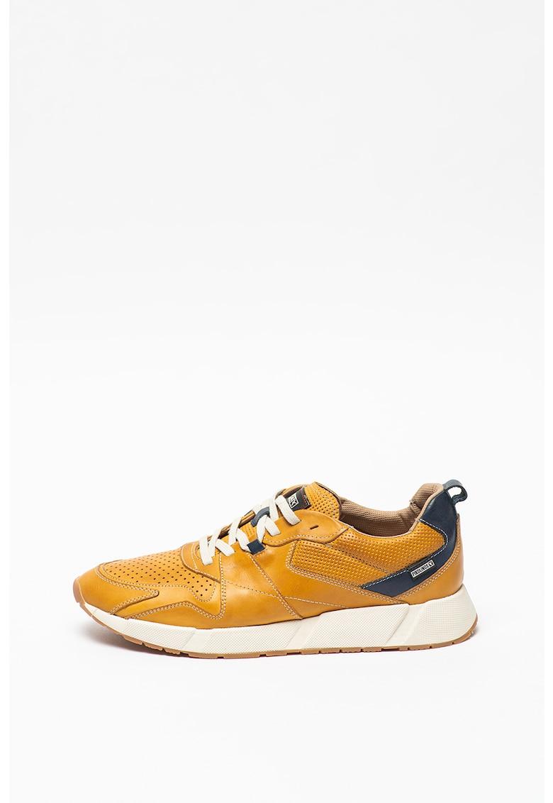 Pantofi sport de piele cu detalii perforate Meliana
