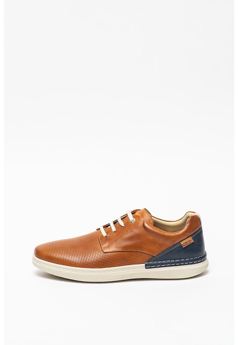 Pantofi casual de piele cu perforatii Begur fashiondays.ro