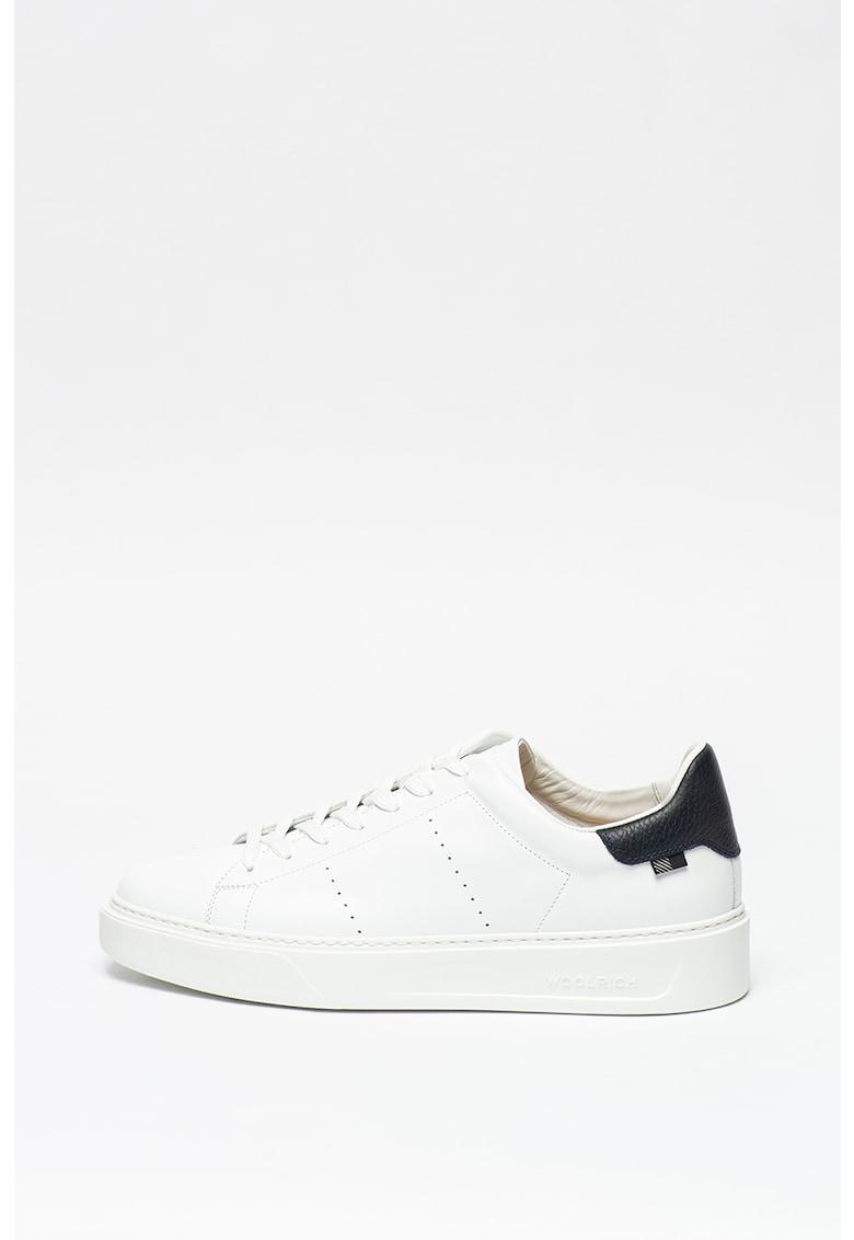 Pantofi sport din piele cu varf rotund