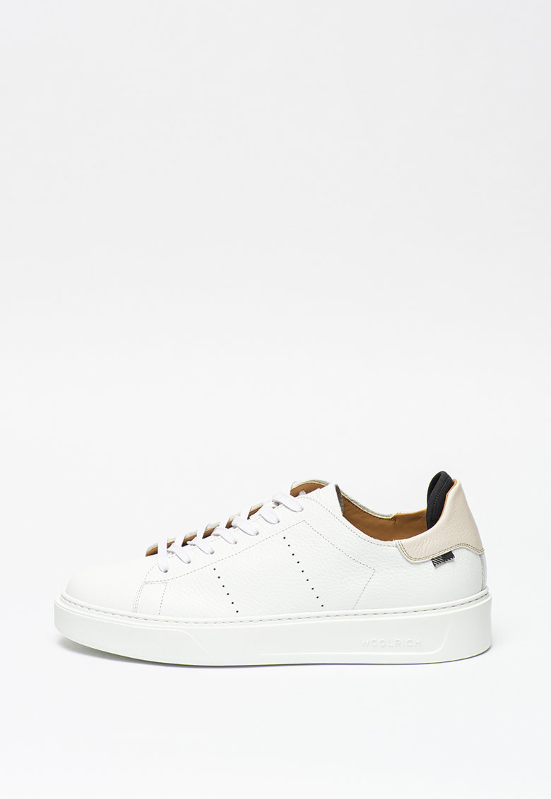 Pantofi sport din piele cu varf rotund imagine