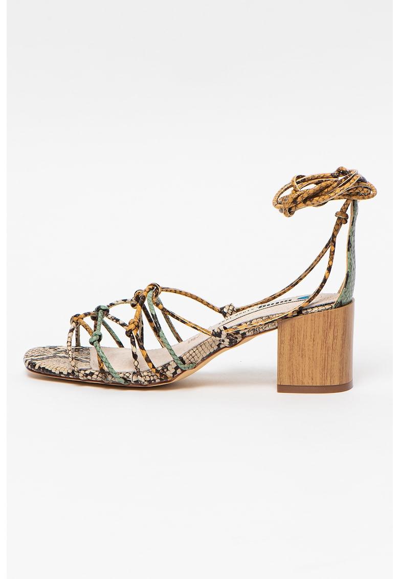 Sandale cu toc masiv Megris