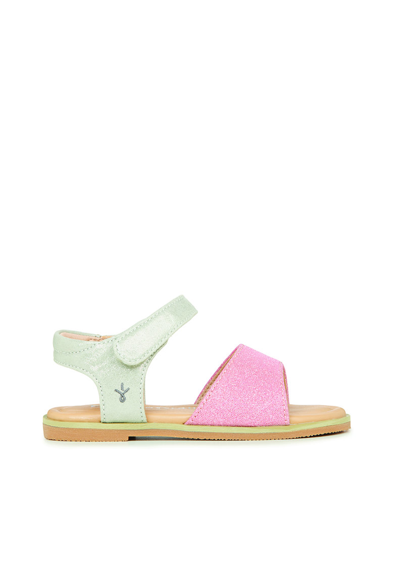 Sandale cu inchidere velcro si aspect lucios Ainslie Emu fashiondays.ro