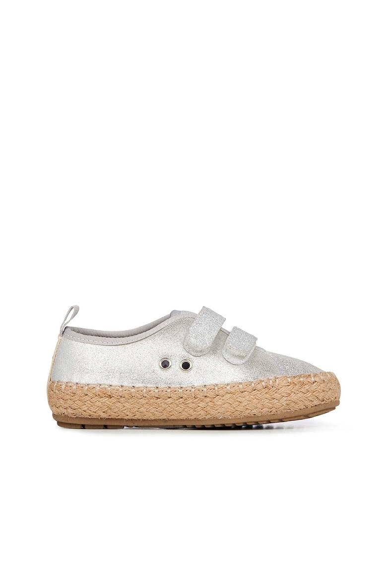 Pantofi luciosi din piele intoarsa cu inchidere velcro Millner Emu fashiondays.ro