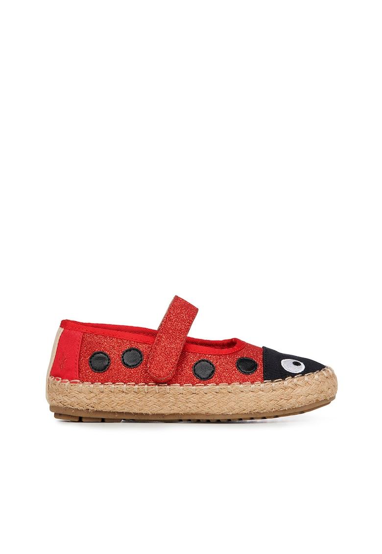 Pantofi loafer cu inchidere velcro si insertii stralucitoare Ladybird Nest poza fashiondays