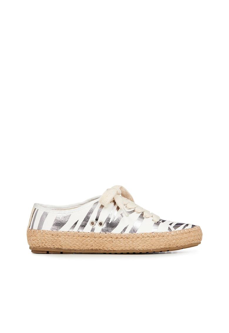 Espadrile din material textil cu imprimeu zebra Agonis imagine fashiondays.ro Emu