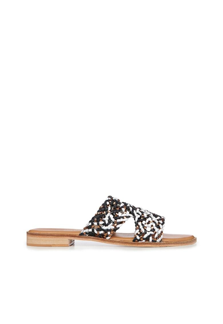 Papuci impletiti din piele Kadina Emu fashiondays.ro