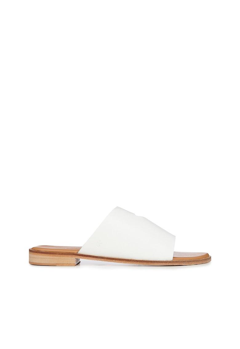 Papuci din piele cu decupaj frontal Ginini Emu fashiondays.ro
