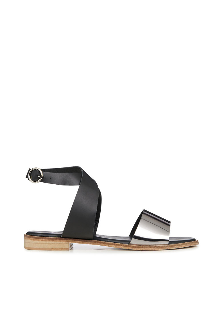 Sandale din piele cu barete incrucisate Barrier Emu fashiondays.ro
