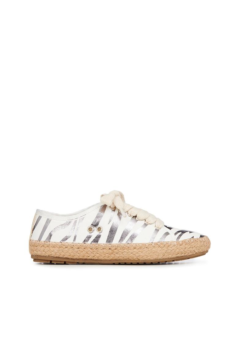 Pantofi sport tip espadrile cu imprimeu zebra metalizat Agonis Emu fashiondays.ro