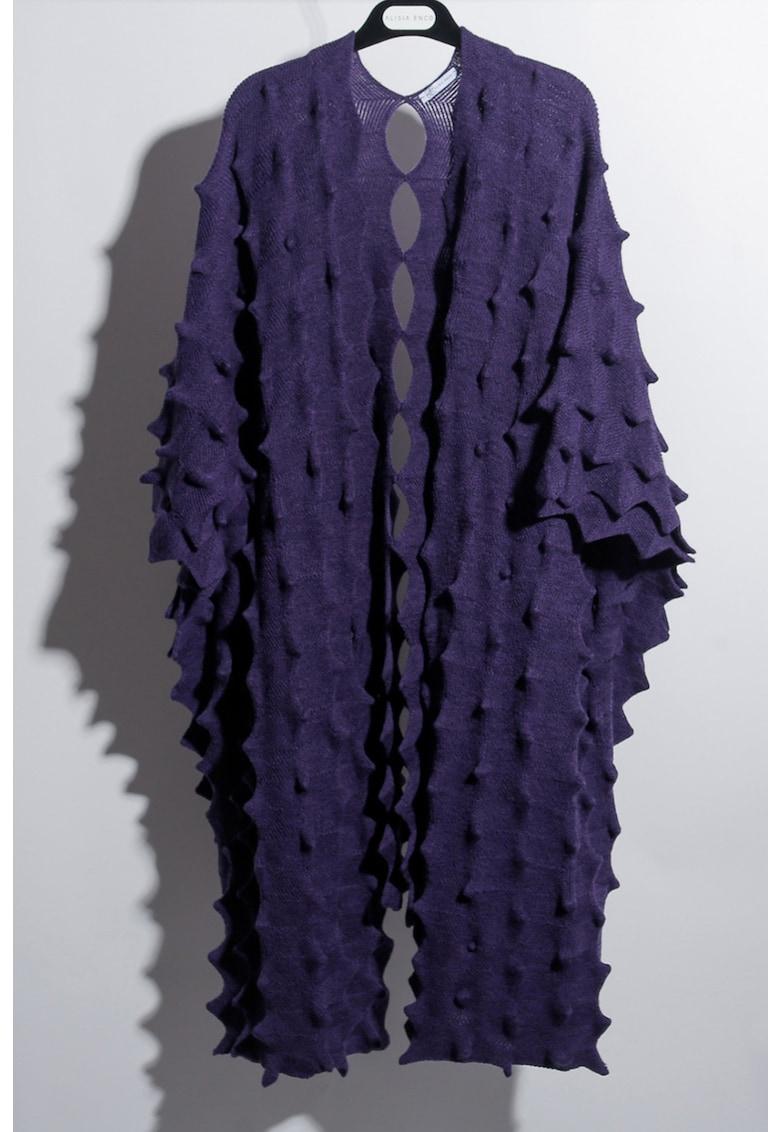 Cardigan din amestec de lana merinos cu aspect texturat Mila