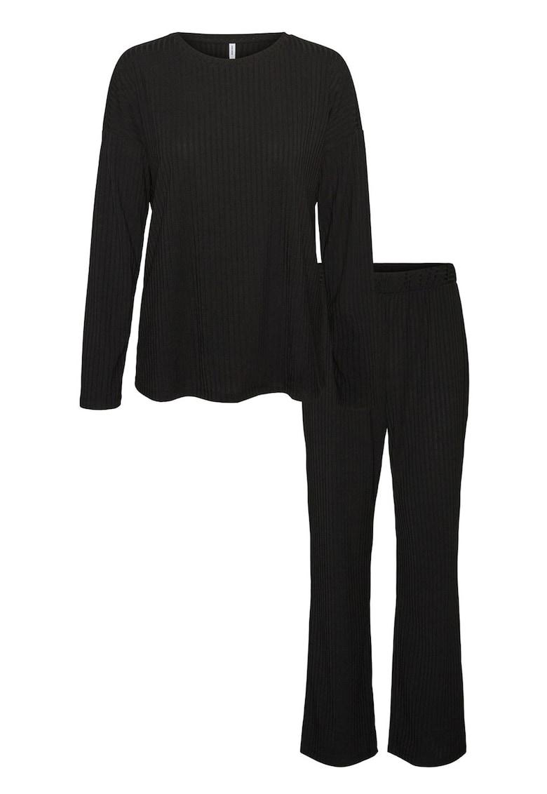 Pijama cu pantaloni lungi si striatii de la Vero Moda