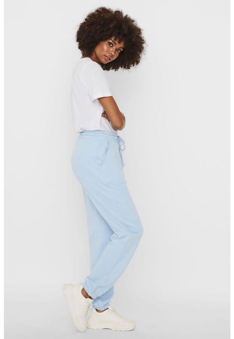 Pantaloni jogger de bumbac organic cu snur imagine promotie