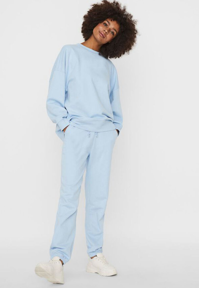 Bluza sport de bumbac organic cu maneci cazute de la Vero Moda