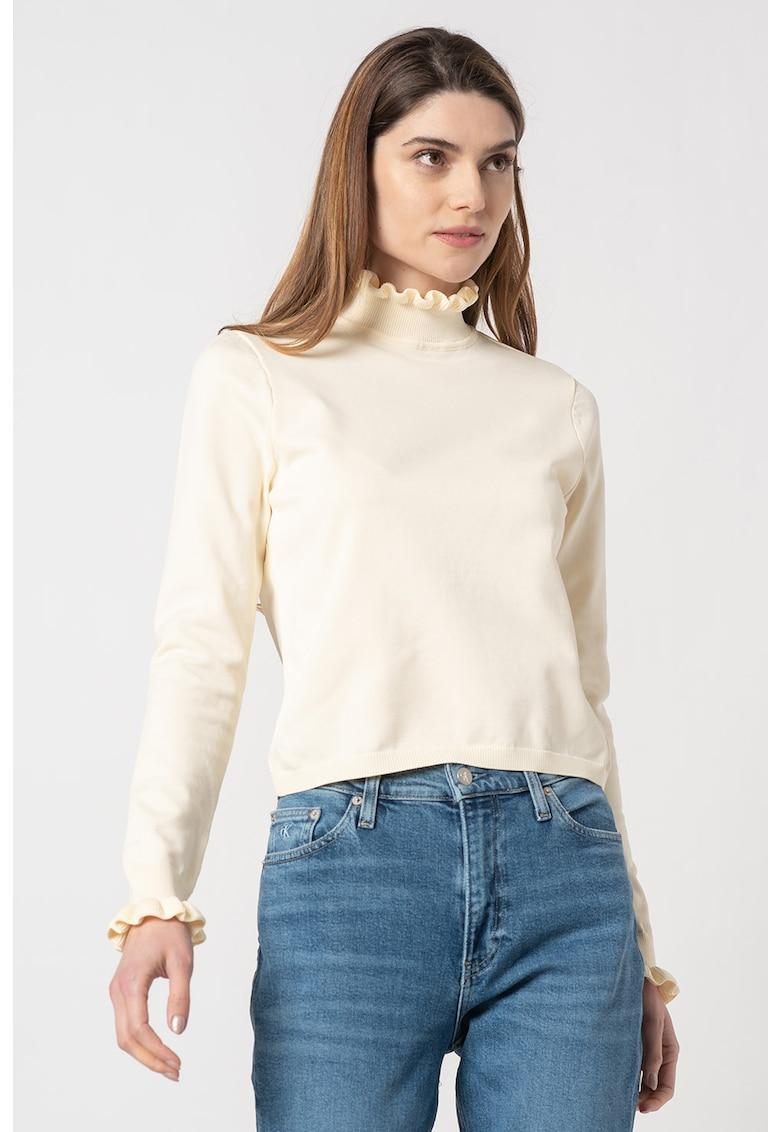Bluza cu volane pe guler si mansete Sally imagine