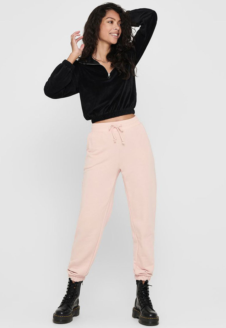 Pantaloni sport cu snur de ajustare si buzunare oblice Only fashiondays.ro