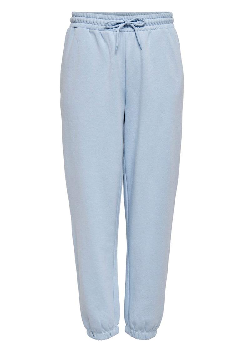 Pantaloni sport de bumbac cu snur in talie imagine promotie
