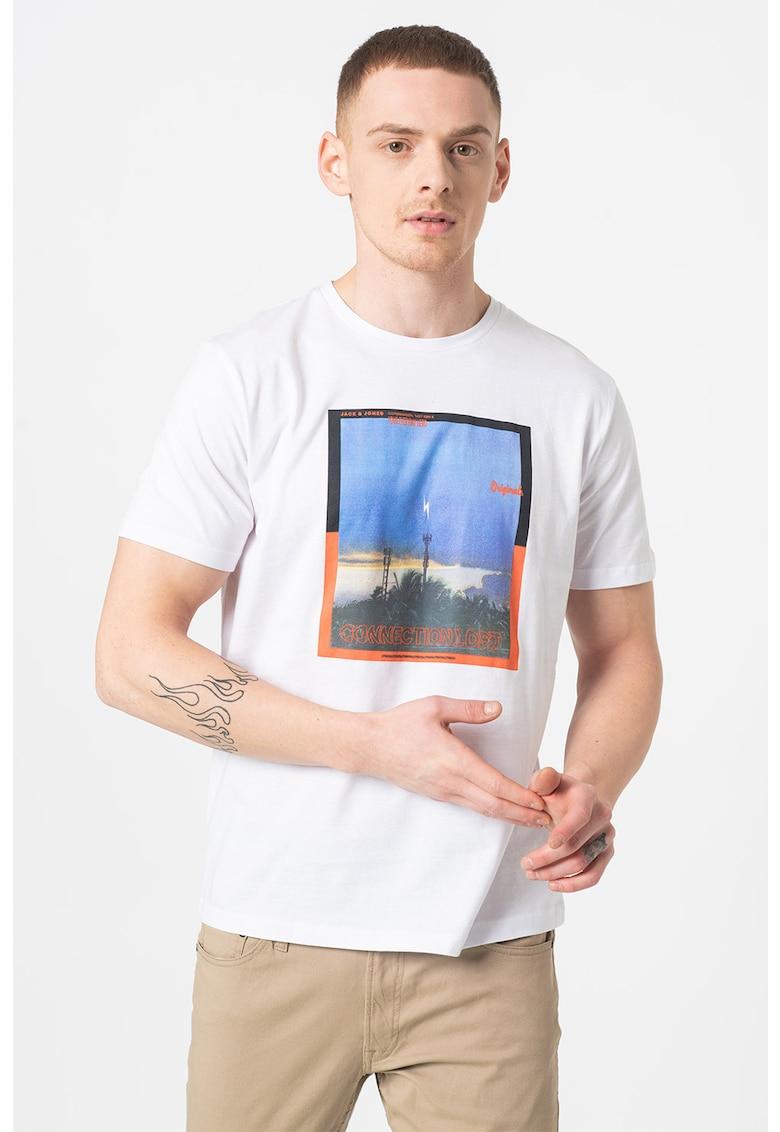 Tricou regular fit cu imprimeu foto All Round Bărbați imagine