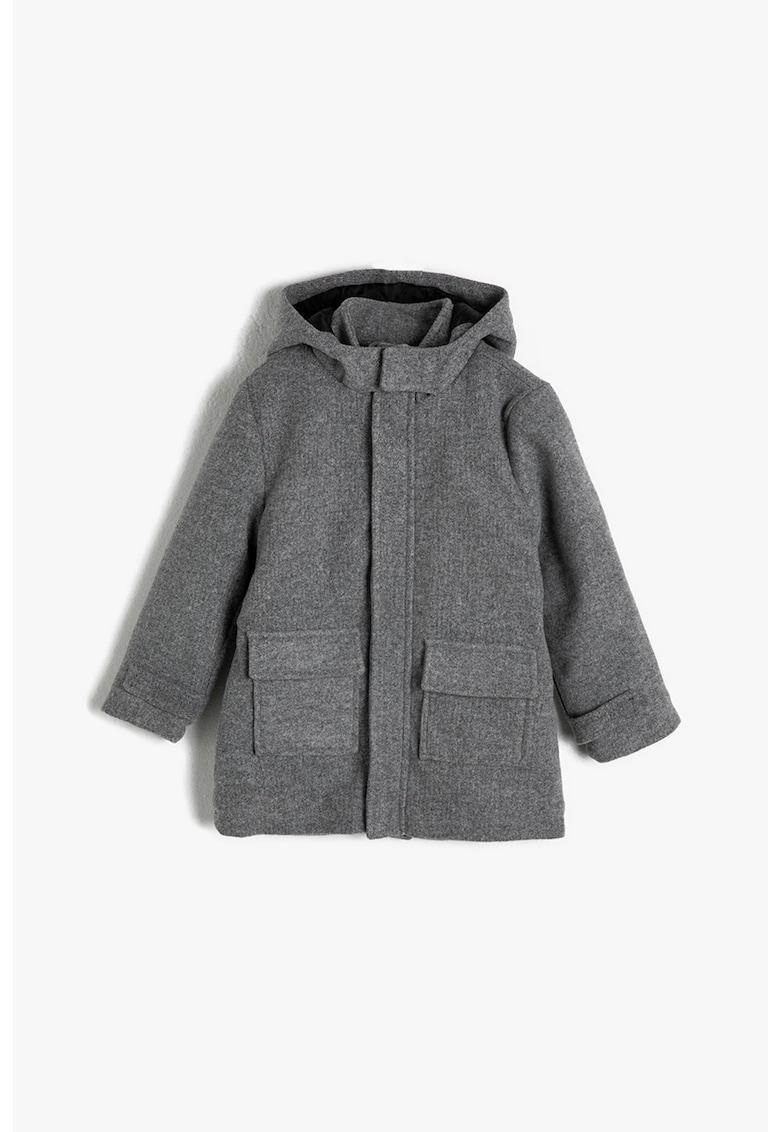 Palton cu buzunare cu clapa imagine promotie