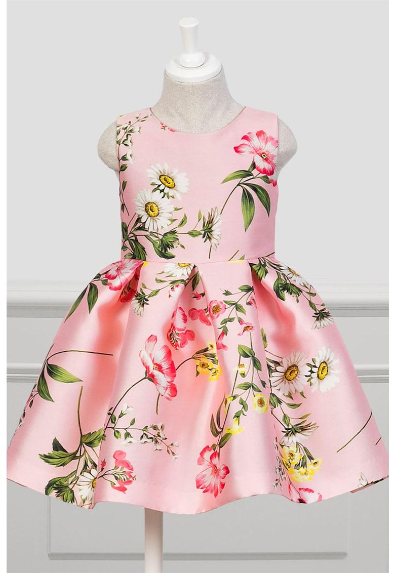 Rochie din satin cu model floral imagine
